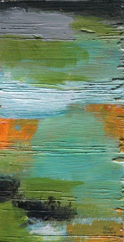 miniature art abstract art block