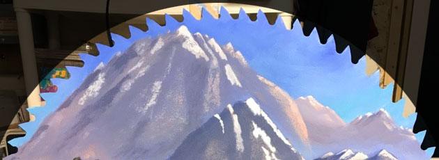 custom painted saw blade