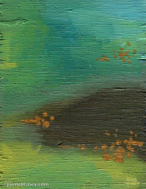 blue-green abstract art block