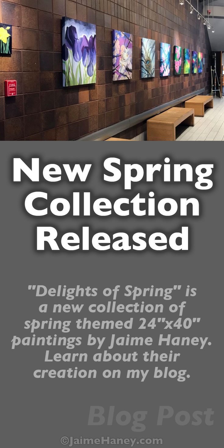 Pinterest pin for Spring Art Collection