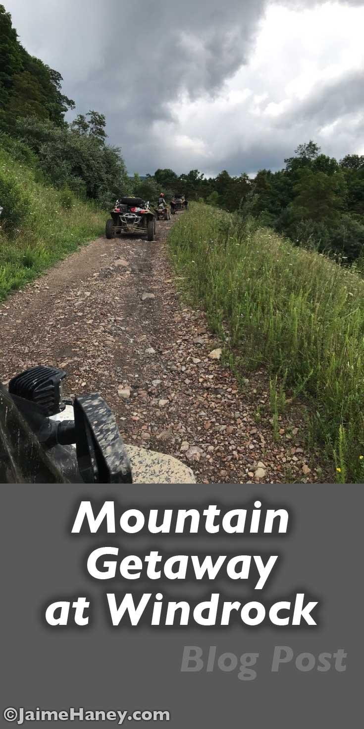 mountain getaway pin