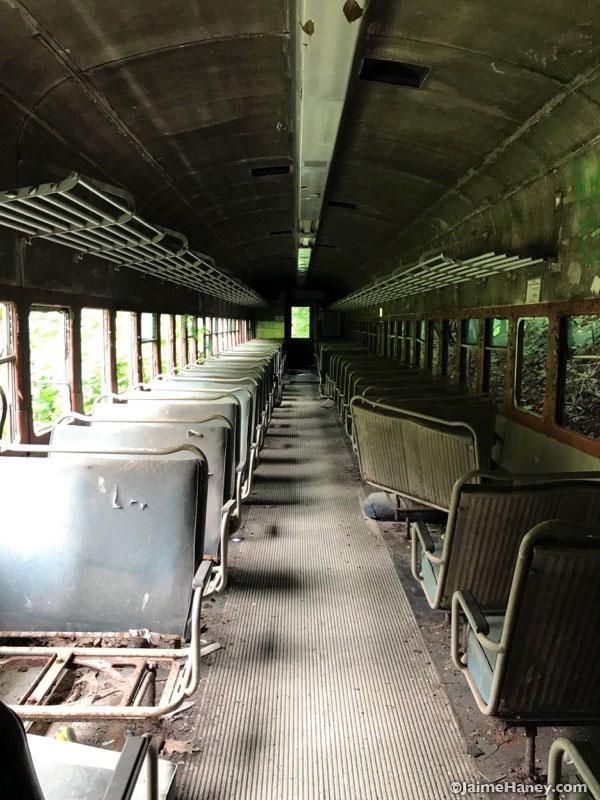 coach class abandoned train car