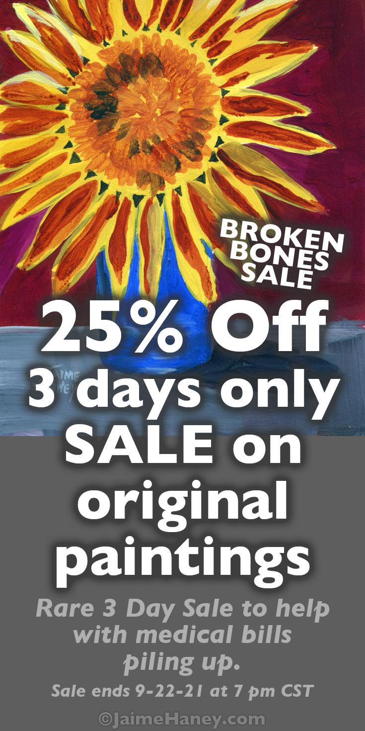 Broken Bones sale Pinterest graphic