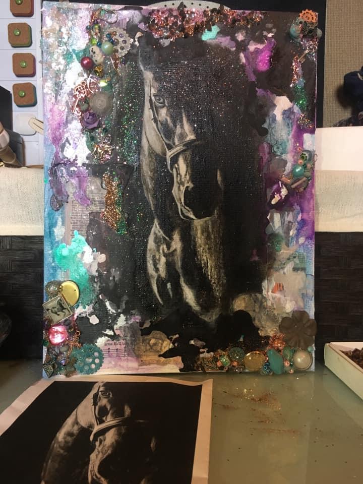 art mediums horse final