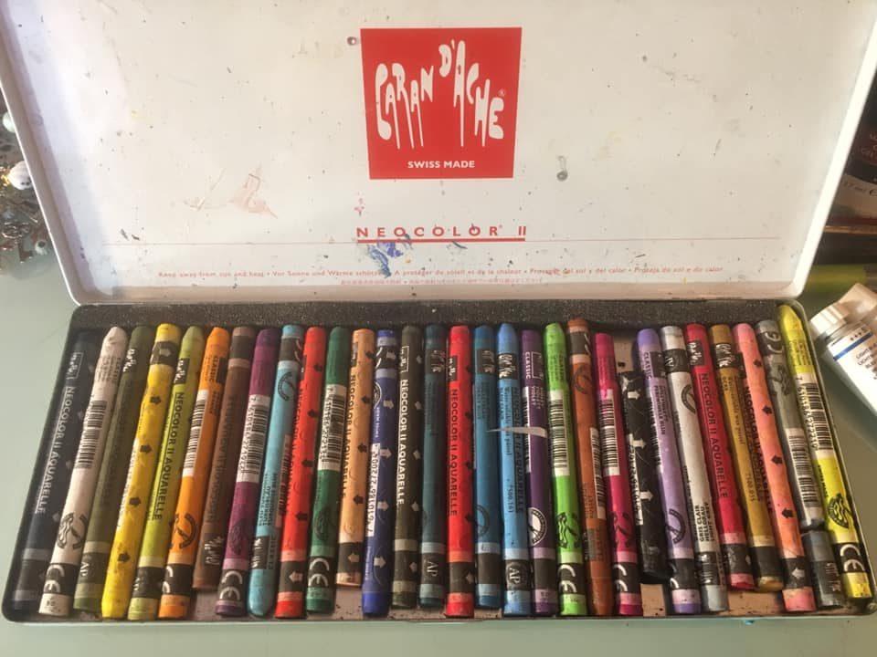 caran d'ache watercolor crayons