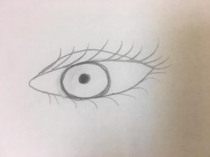 simple eye drawing