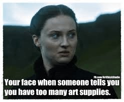 art supply meme