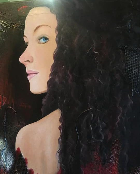 curly hair portrait finished
