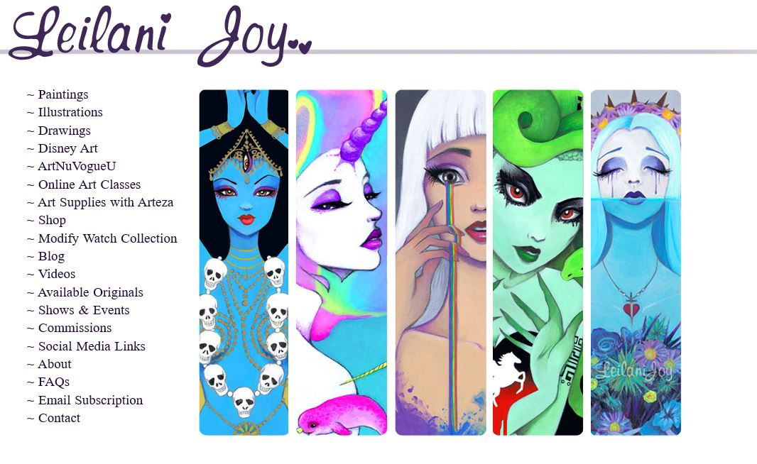 Leilani Joy Artist Website