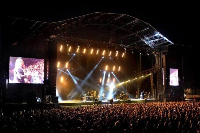 La main stage de l'Aluna Ardeche Festival
