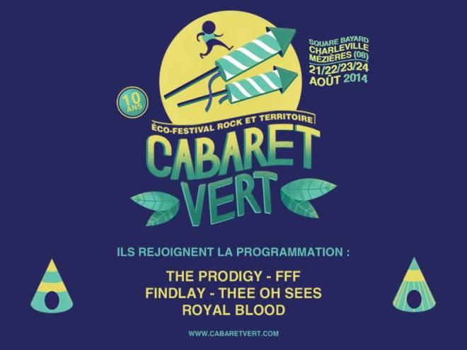Cabaret vert : Prodigy & FFF en nouvelles têtes d'affiches !
