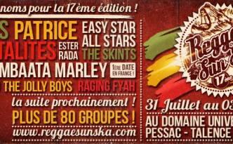 Reggae Sun Ska 2014 : Dix nouveaux noms !