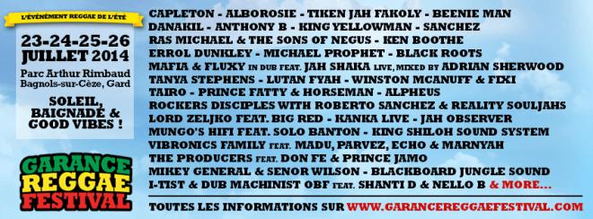 garance reggae festivals 2014
