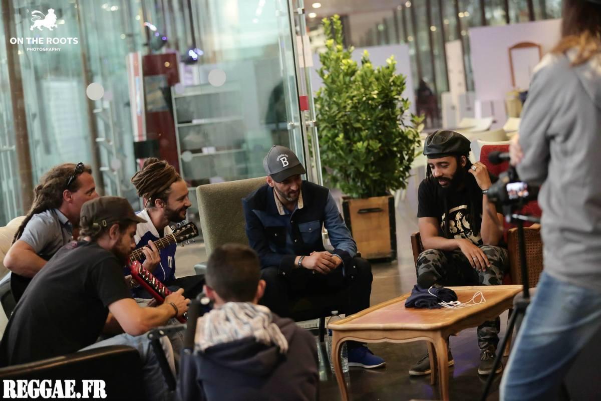 Session acoustique Danakil Protoje Brahim - Crédit photo : on the roots