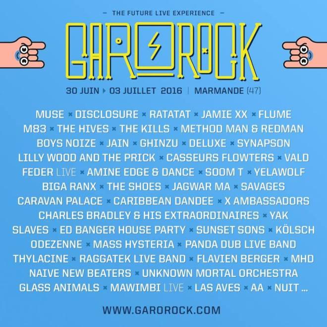 garorock 2016 - 27 nouveaux noms