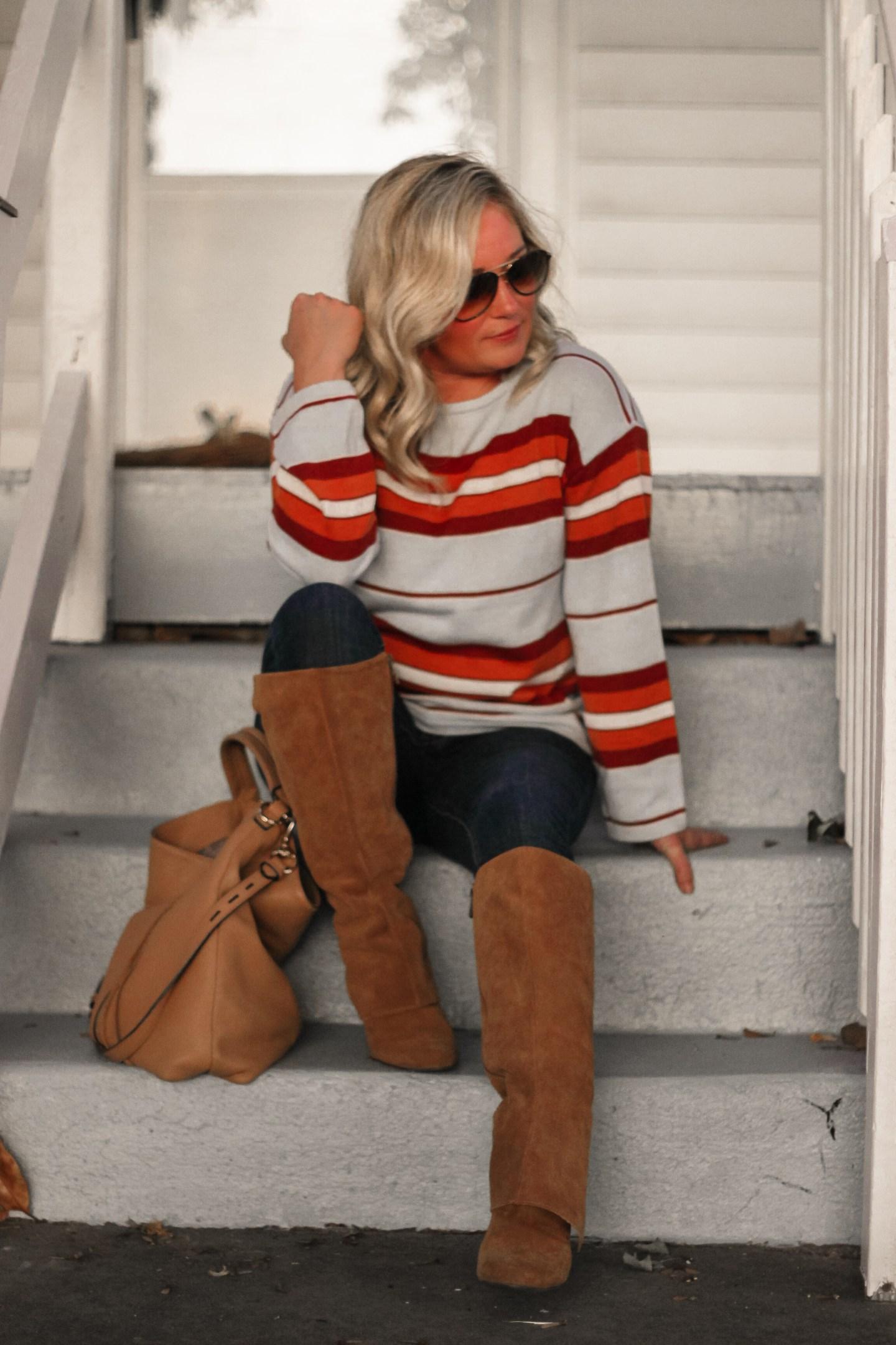 colorful striped sweater amazon