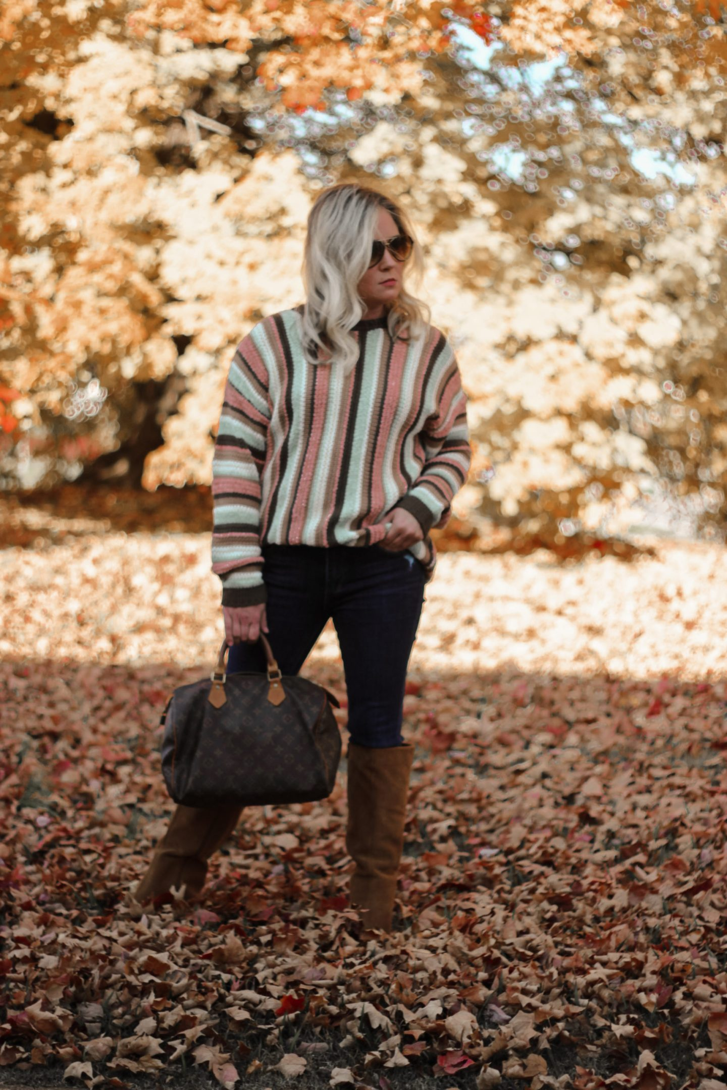 striped sweater for fall
