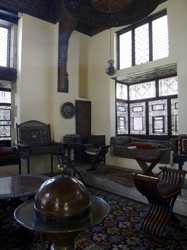 Interior of traditional Arab house in the Gayer-Anderson museum in Cairo Egypt
