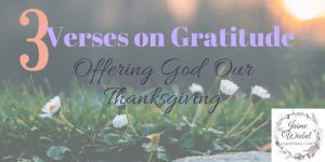 Offering Thanksgiving-3 Gratitude Verses