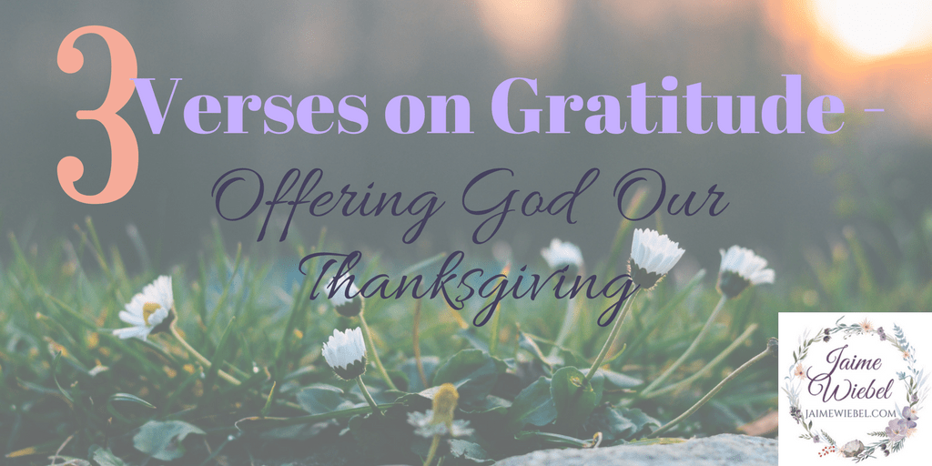 As we gather this time of year may we begin Offering Thanksgiving? Offering God our hearts of gratitude and adoration for Who He Is.