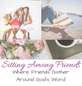 Sitting Among Friend Blog Party at Seeking God with Jaime Wiebel Every Wednesday!