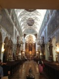 Every time I'm in this church in Salzburg, I'm just in awe.