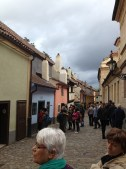 """An original medieval street. Kafka started his infamous """"Metamorphasis"""" in that blue house."""