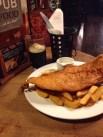 Fish. Chips. Mushy Peas. Guinness. Good day.