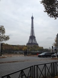 We were stumbling around on our first morning and it suddenly appeared across the Seine!