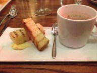It was French American cuisine. Mom still makes better hot chocolate, though.