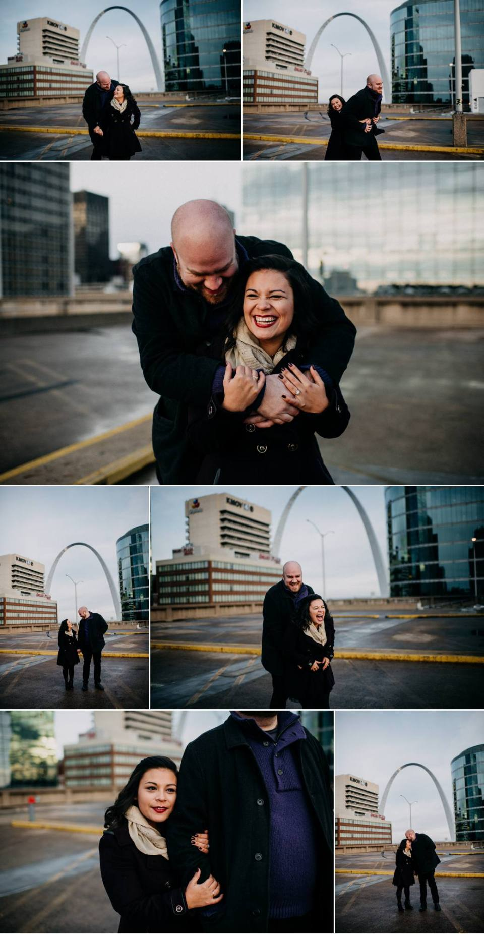 Downtown St Louis Winter Engagement Session