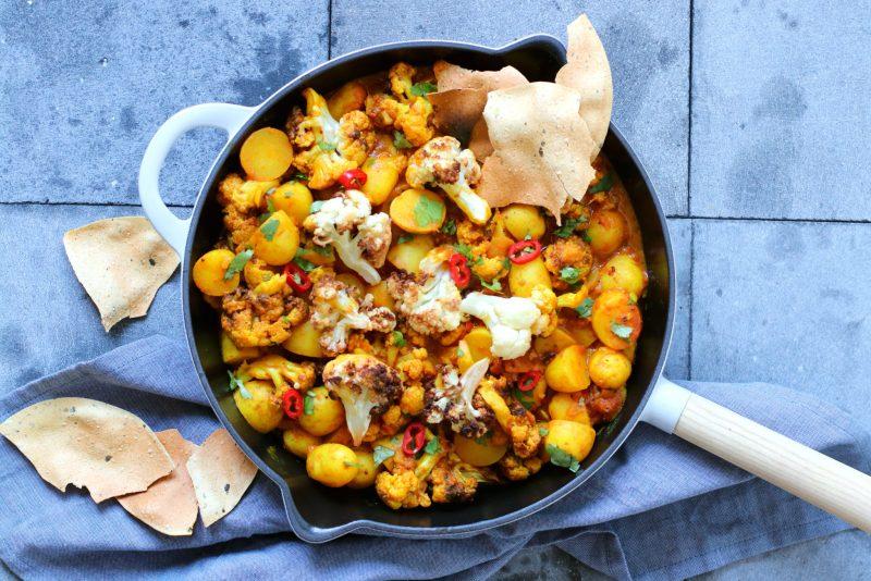 Recept Bloemkool curry met aardappel www.jaimyskitchen.nl