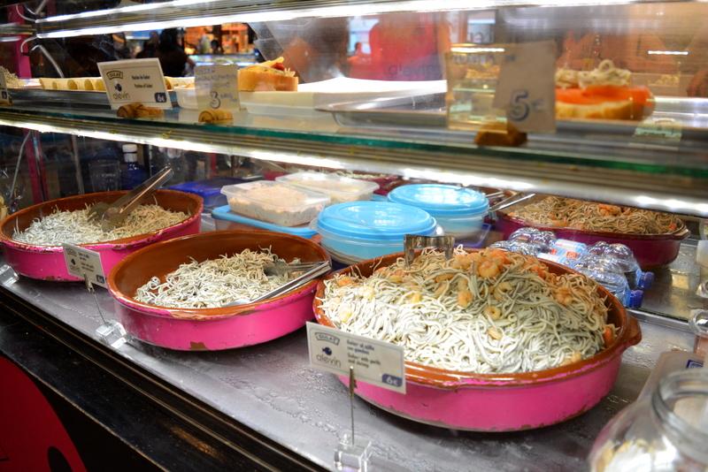 Mercado de San Miguel Madrid Spanje baby eel