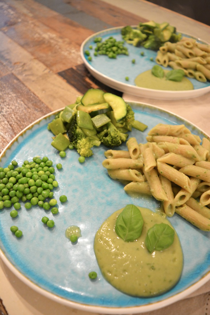 The Green Happiness pasta pesto