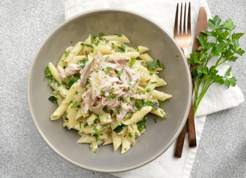 Pasta makreel met courgette www.jaimyskitchen.nl