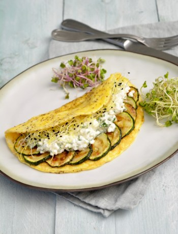 Ei Wrap met Cottage Cheese en Courgette www.jaimyskitchen.nl