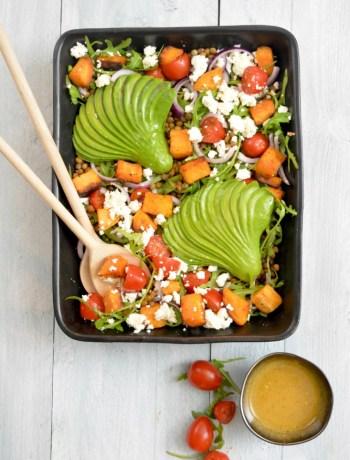 Linzen Salade met Zoete Aardappel www.jaimyskitchen.nl