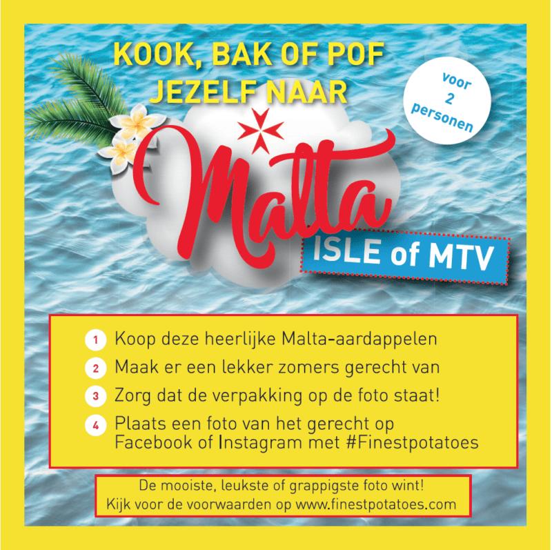 Malta MTV campagnesticker www.jaimyskitchen.nl