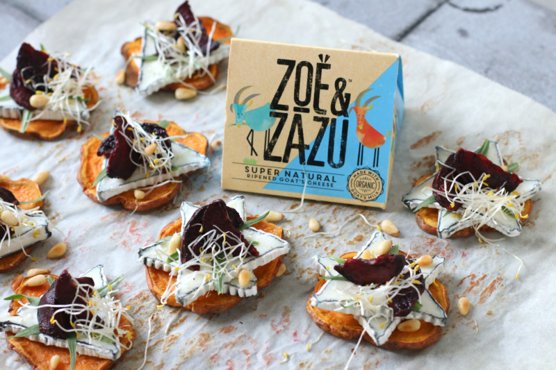 Zoete aardappel toast met geitenkaas www.jaimyskitchen.nl