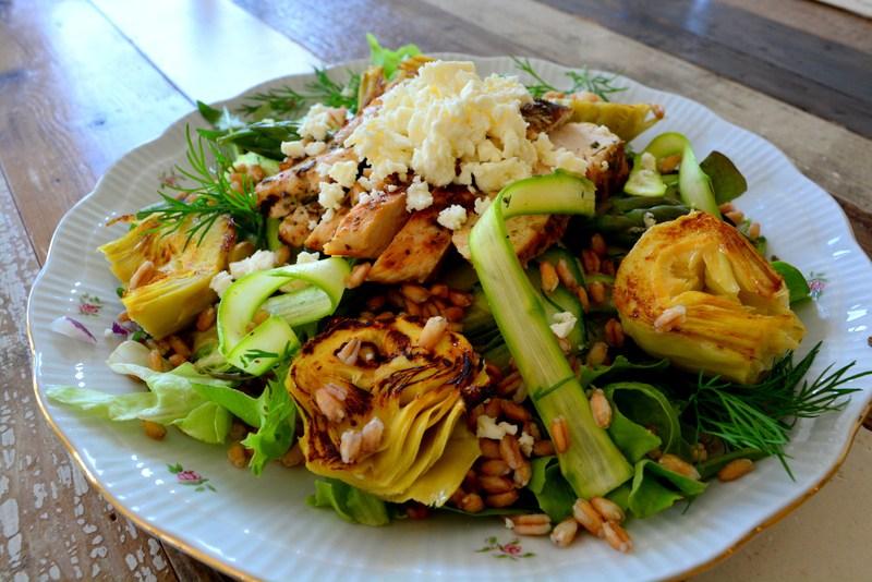 asperge salade met kip www.jaimyskitchen.nl