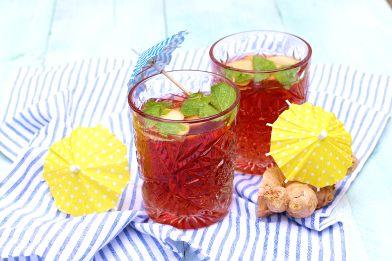 mocktail ginger ale grenadine www.jaimyskitchen.nl