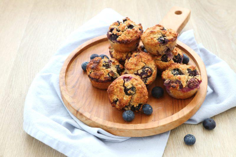 Ontbijt muffins met blauwe bessen www.jaimyskitchen.nl