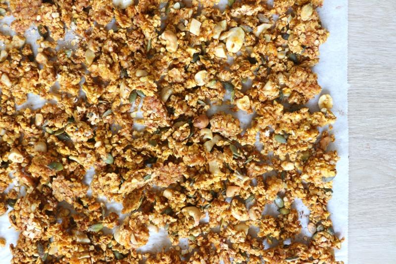 Pompoen granola recept www.jaimyskitchen.nl