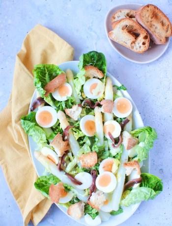 Caesar salade met asperge www.jaimyskitchen.nl