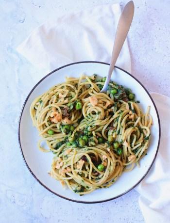 Recept pasta spinazie a la creme www.jaimyskitchen.nl
