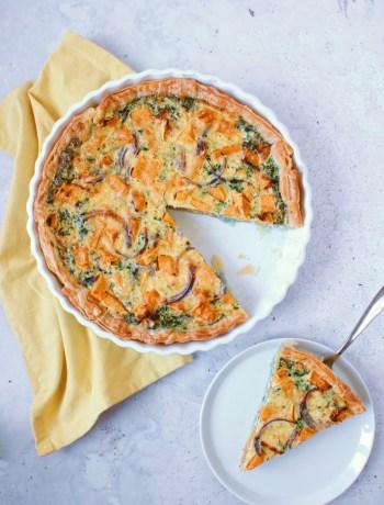 Recept pompoen quiche met spinazie www.jaimyskitchen.nl