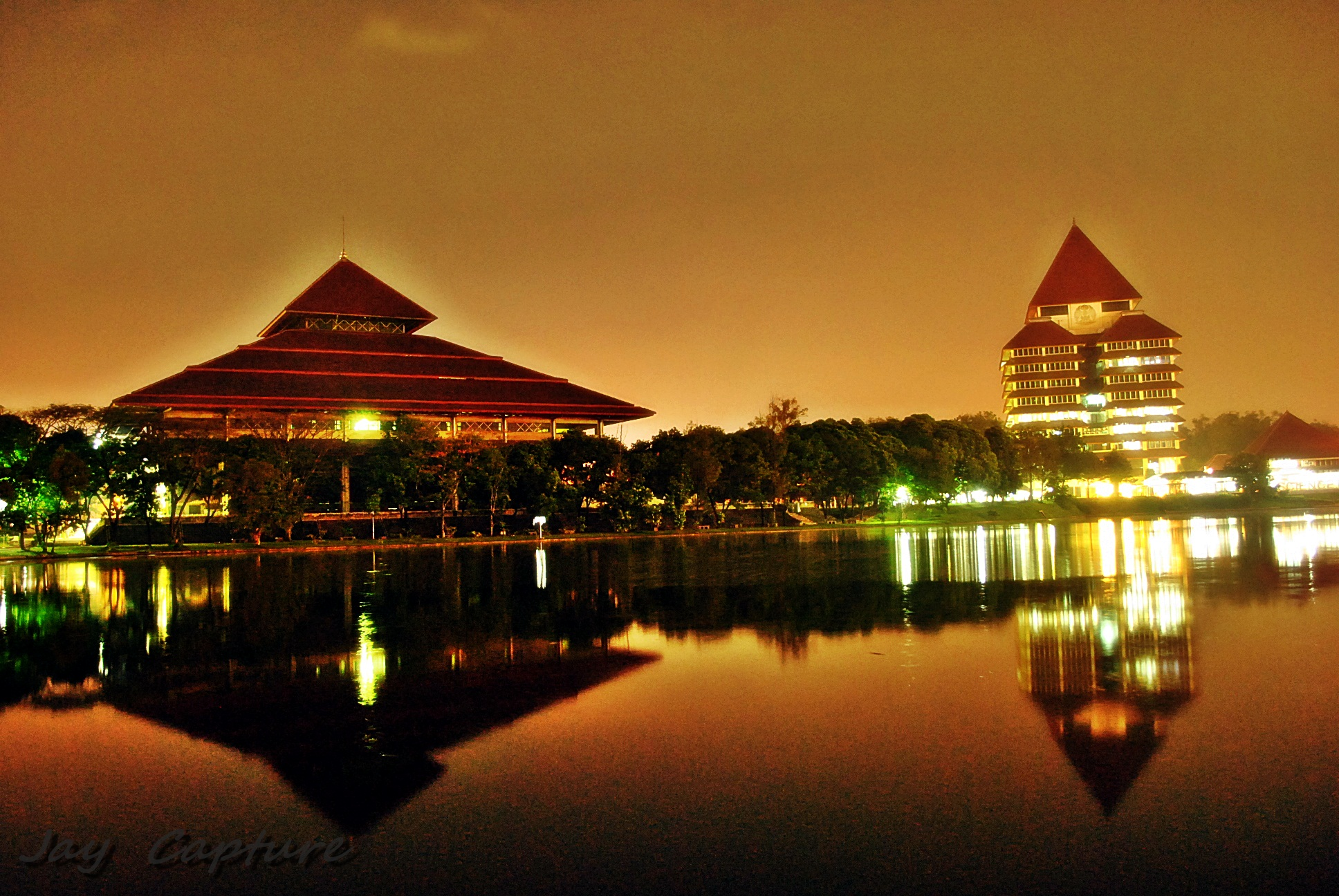Wallpaper Universitas Indonesia UI Night Mode  Never
