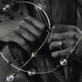 Collier argent et pierres d'onyx