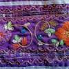 Galon violet ancien broderie indienne