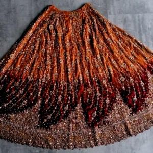 Jupe indienne de cérémonie brodée